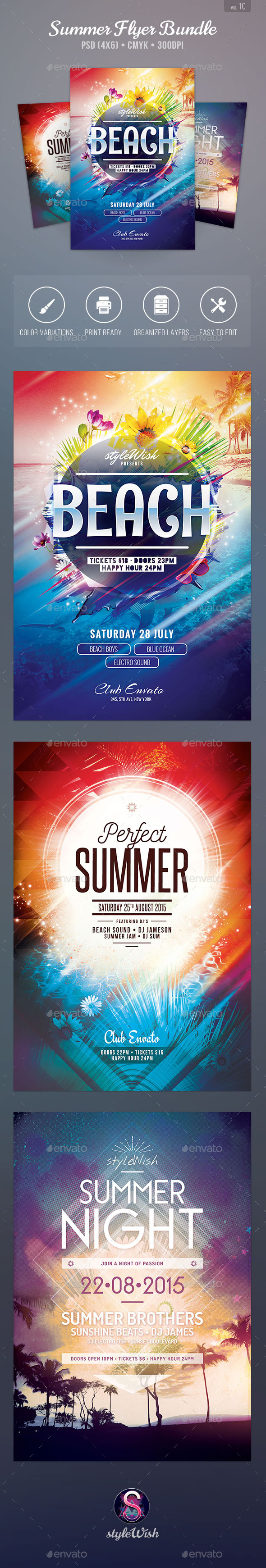 GraphicRiver Summer Flyer Bundle Vol.10 11773858