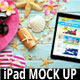 iPad On The Beach Mockup - GraphicRiver Item for Sale