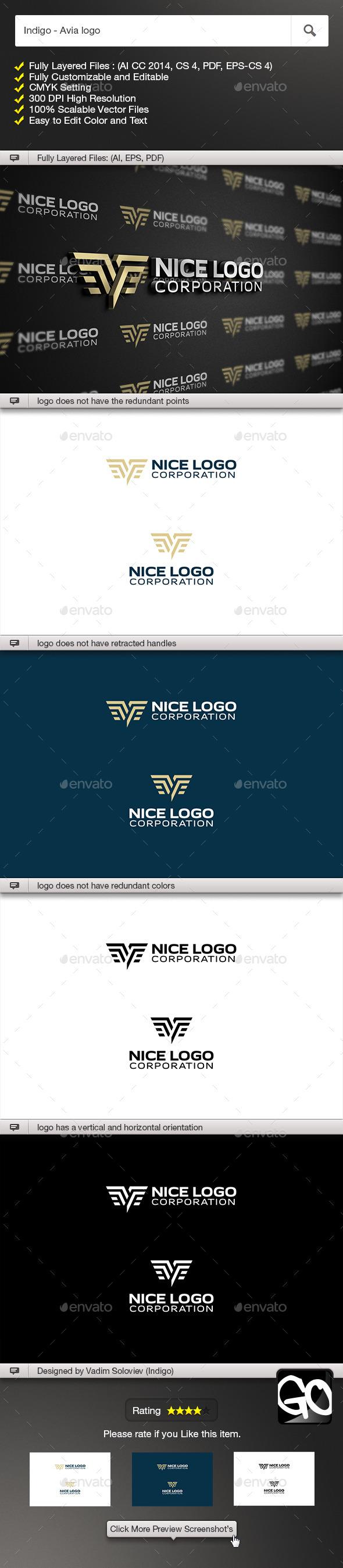GraphicRiver Indigo Avia logo 11558851
