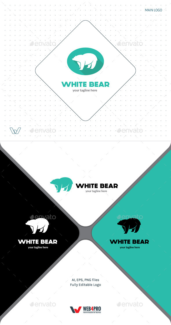 GraphicRiver White Bear Logo 11778887
