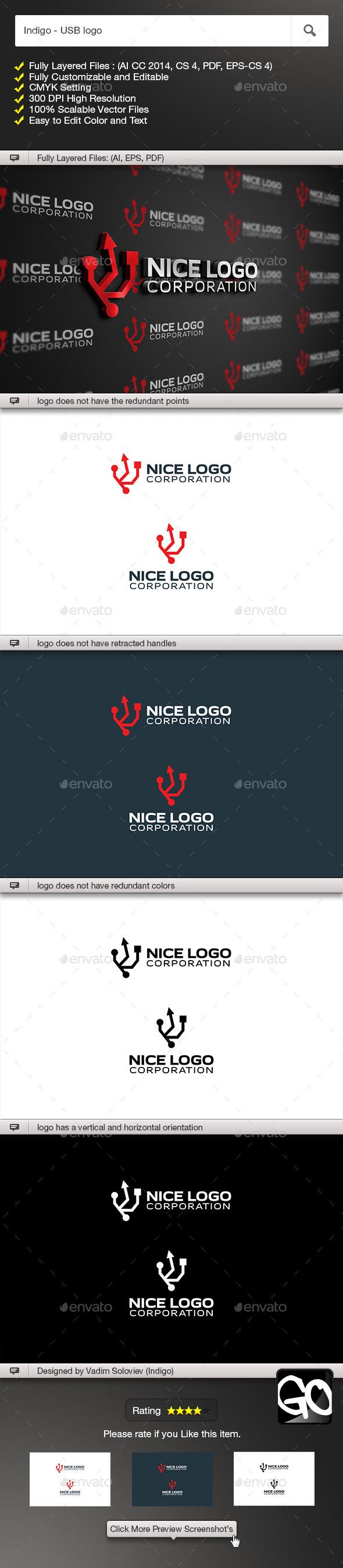 GraphicRiver Indigo USB logo 11778922