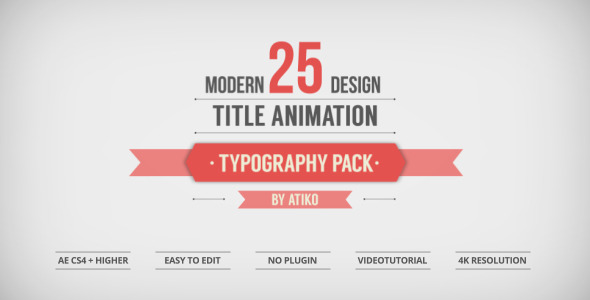 25 Design Titles Animation Typography Pack
