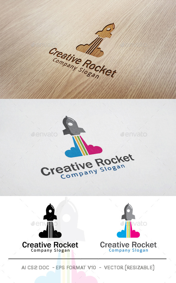 GraphicRiver Creative Rocket Logo 11779274