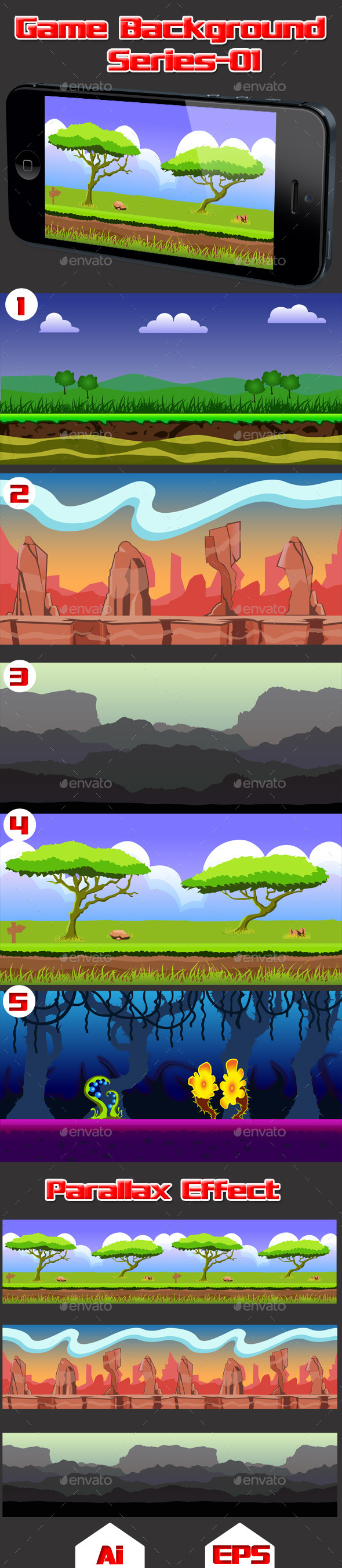 GraphicRiver Game Background Series-01 11779334