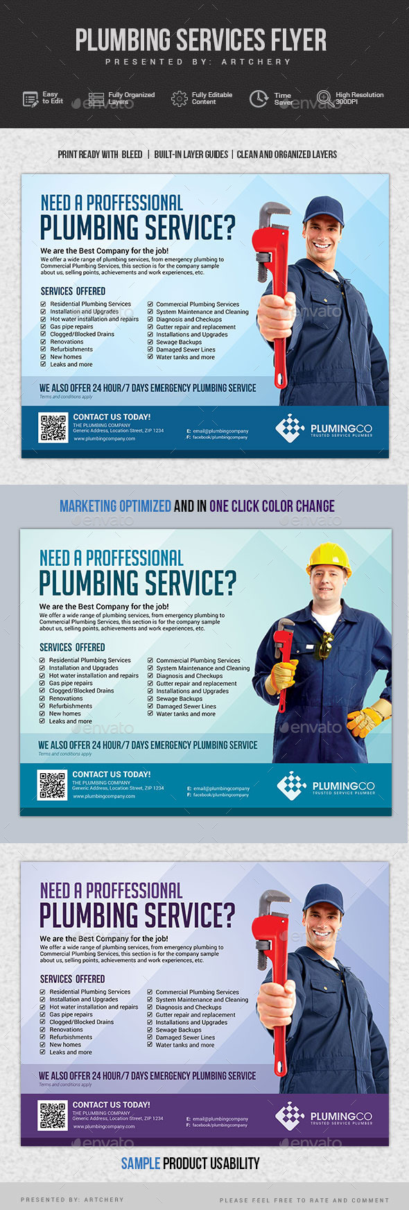 GraphicRiver Plumbing Service Flyer 11772632