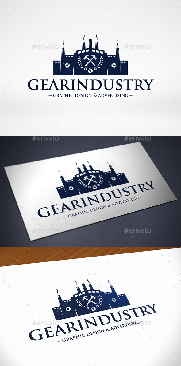 GraphicRiver Gear Industry Logo Template 11779714