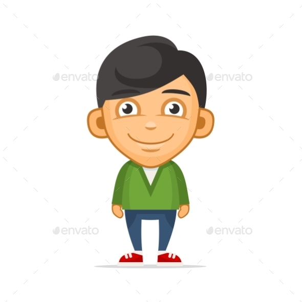 GraphicRiver Smiling Boy Wearing Green Sweater 11779822