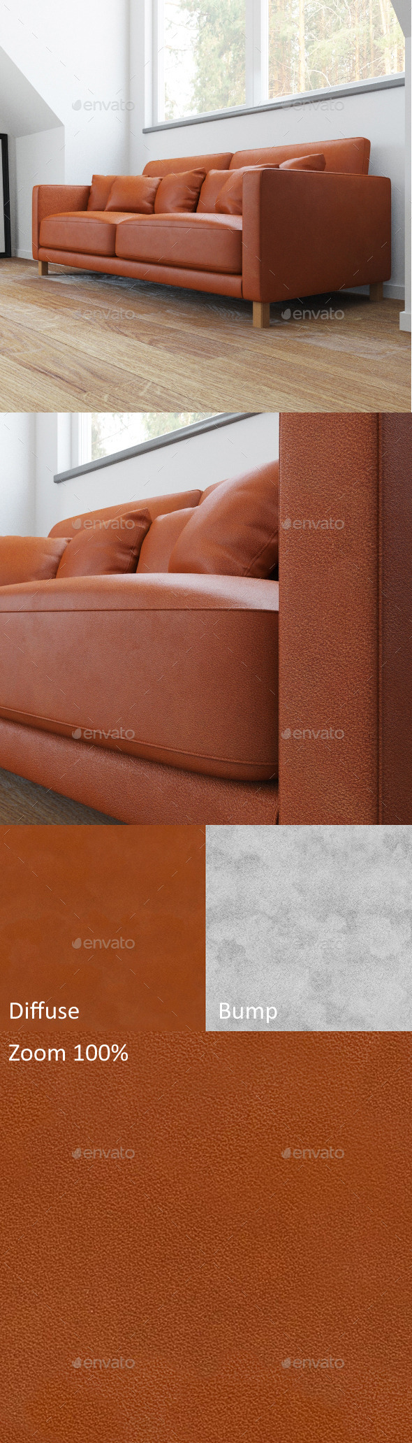 Brown seamless leather
