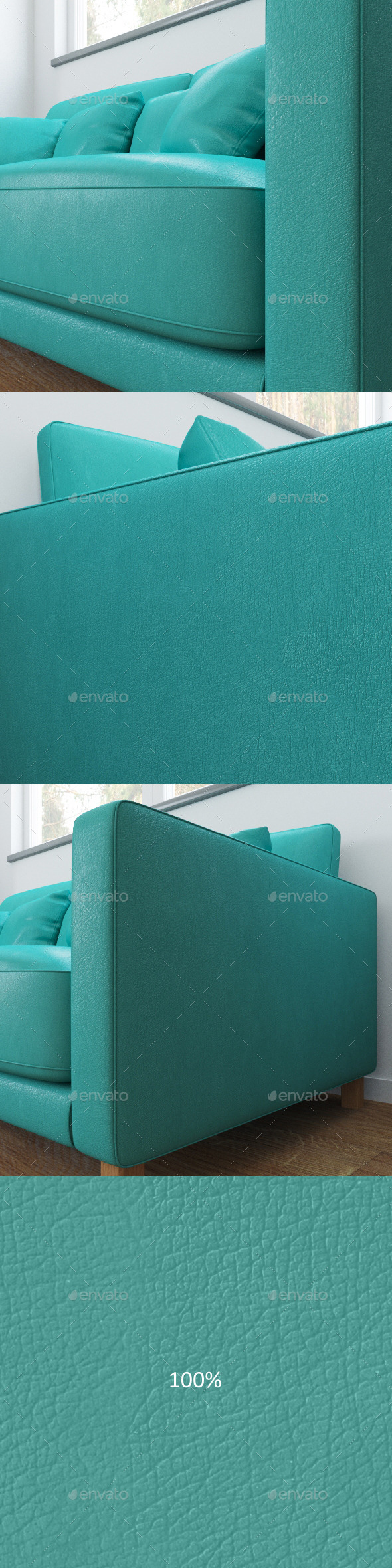 3DOcean Mint color leather texture 11780016