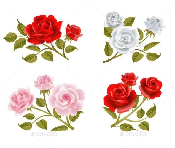 GraphicRiver Rose Buttonholes 11780039