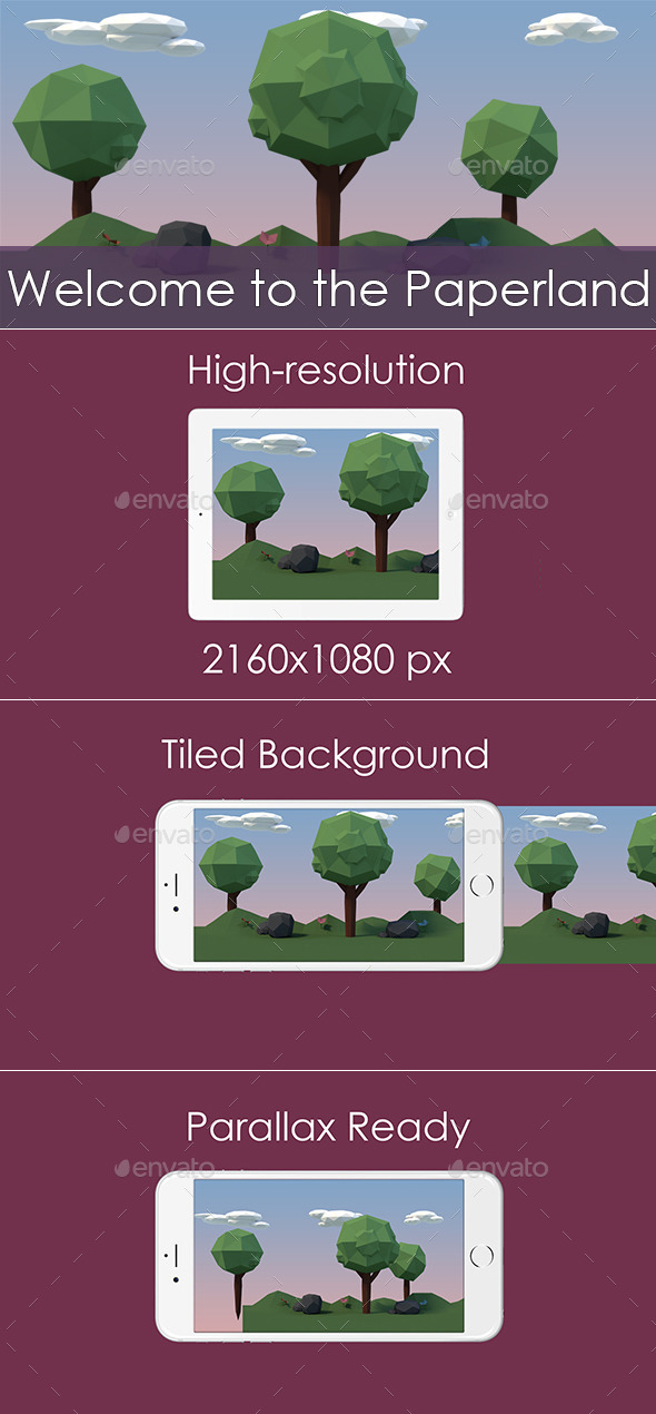 GraphicRiver Paperland Game Background 11780060