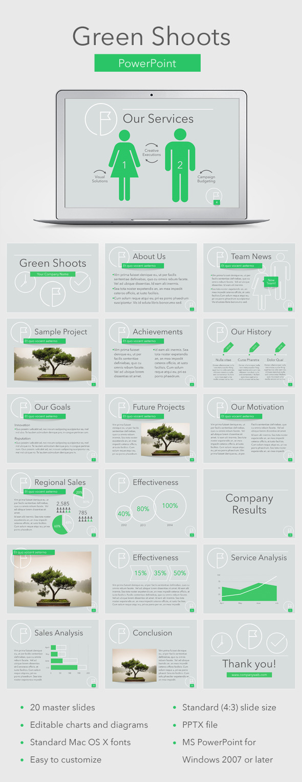 GraphicRiver Green Shoots PowerPoint Template 11780108