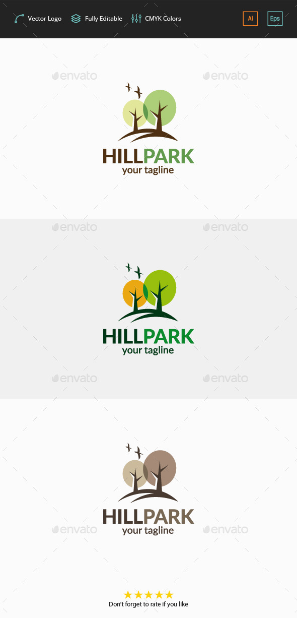 GraphicRiver Hill Park Logo 11778500