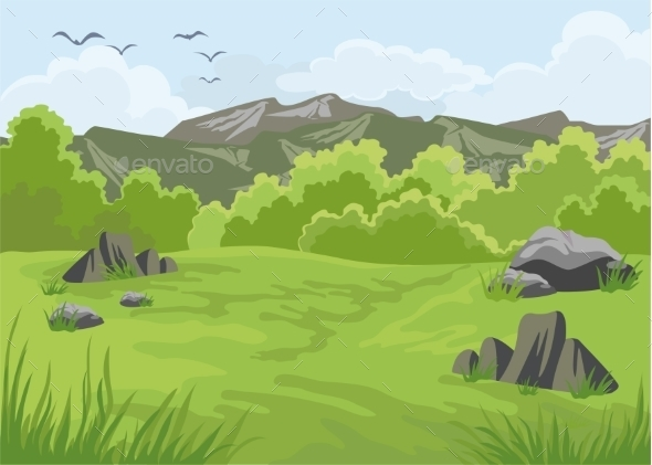 GraphicRiver Landscape with Mountains 11780380