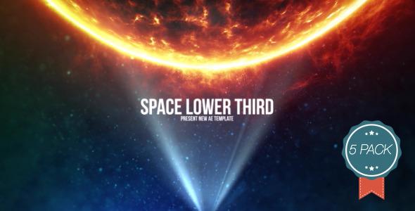 Space Light Lower Third V4 5 Pack