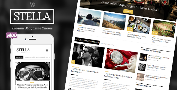 ThemeForest STELLA Clean Blog News Magazine Responsive Theme 11591005