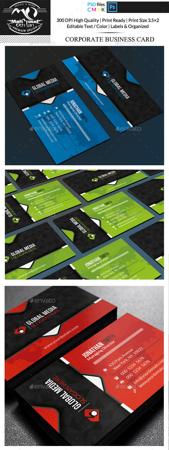 GraphicRiver Corporate Business Card 11780676