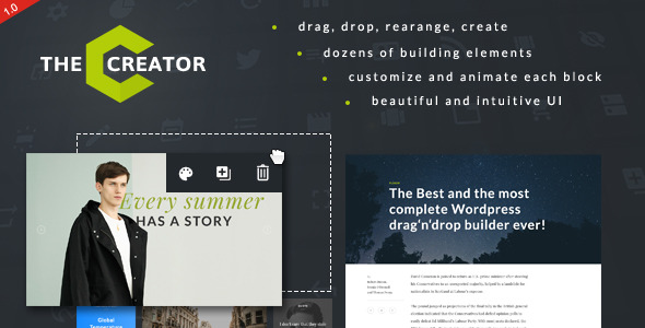 CodeCanyon The Creator Visual Page Builder for WordPress 11780679