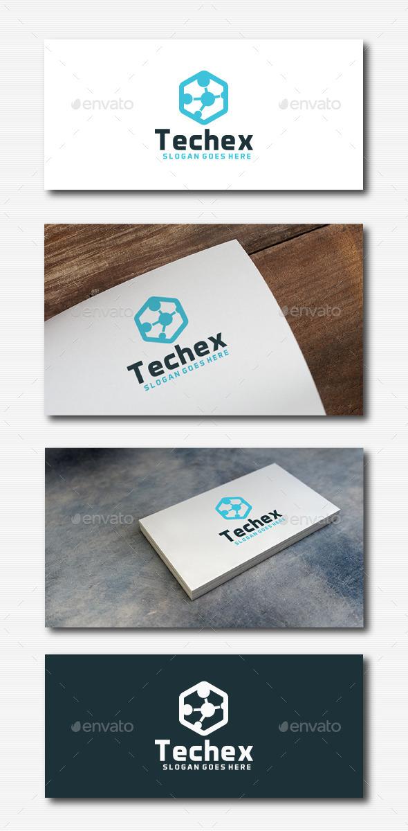 GraphicRiver Tech Hexagon Logo 11780797