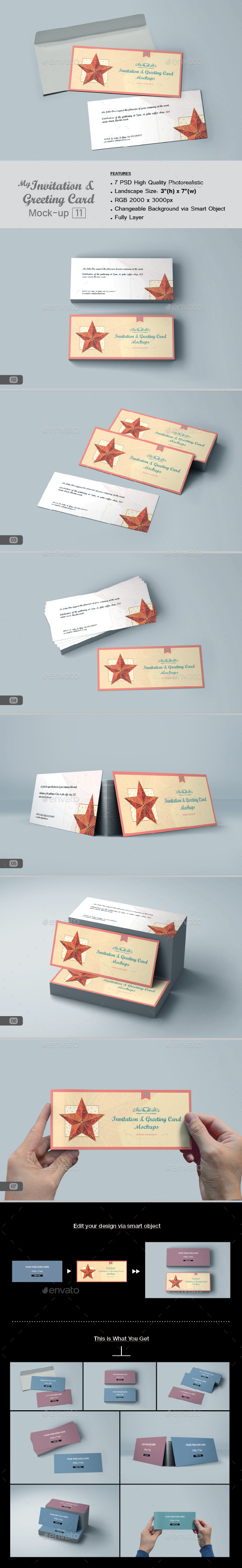 GraphicRiver myGreeting Card Mock-up v11 11780907
