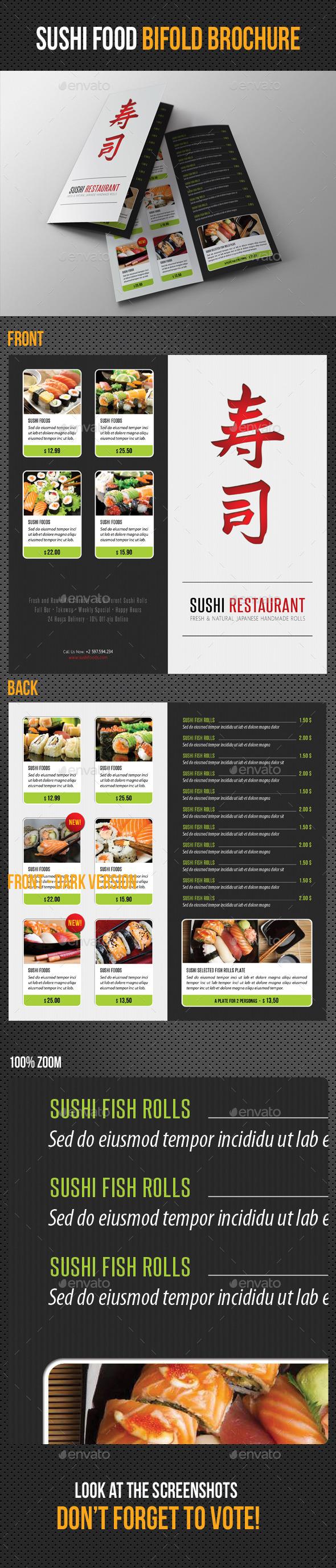 GraphicRiver Sushi Restaurant Menu Bifold Brochure 11780943