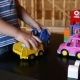 Cute Boy Playing With Toy Car - VideoHive Item for Sale