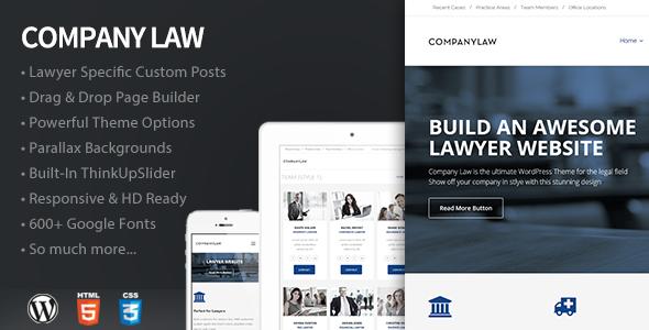 ThemeForest CompanyLaw Lawyer & Attorney WordPress Theme 11552637