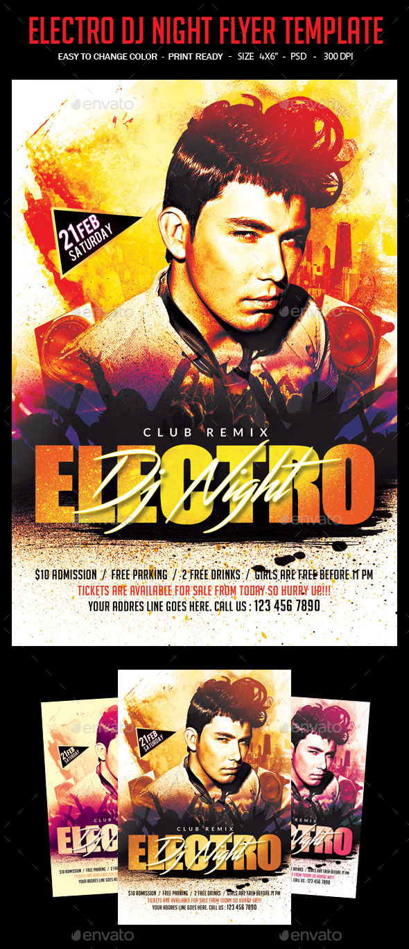 GraphicRiver Electro DJ Night Flyer Template 11782987