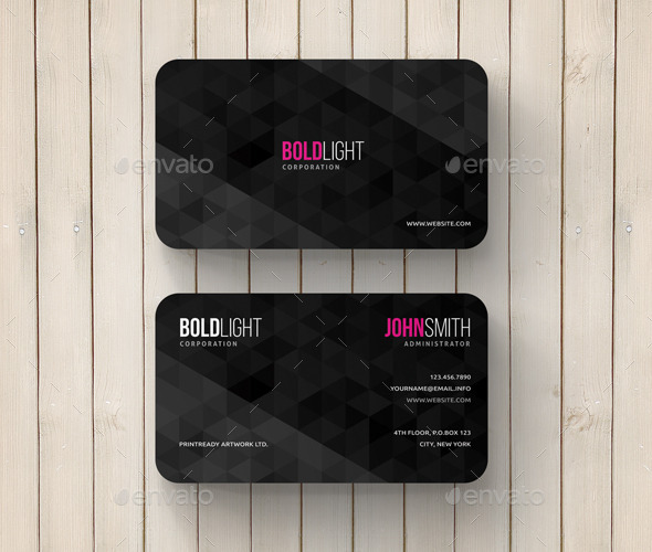 GraphicRiver Geometric Abstract Business Card 11783267