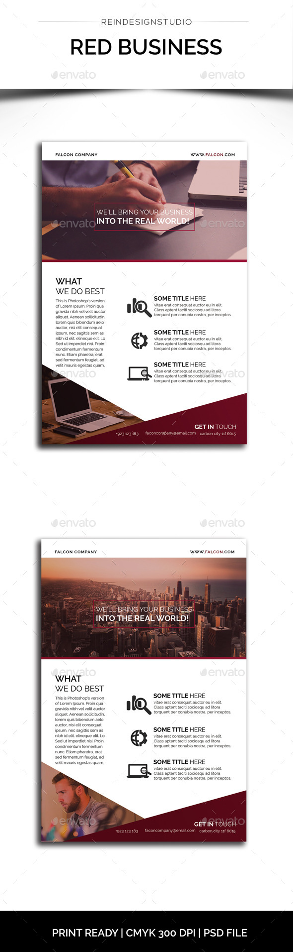 GraphicRiver Red Business Flyer 11783391