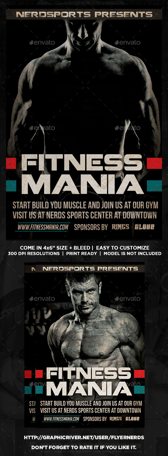 GraphicRiver Fitness Mania Sports Flyer 11783392