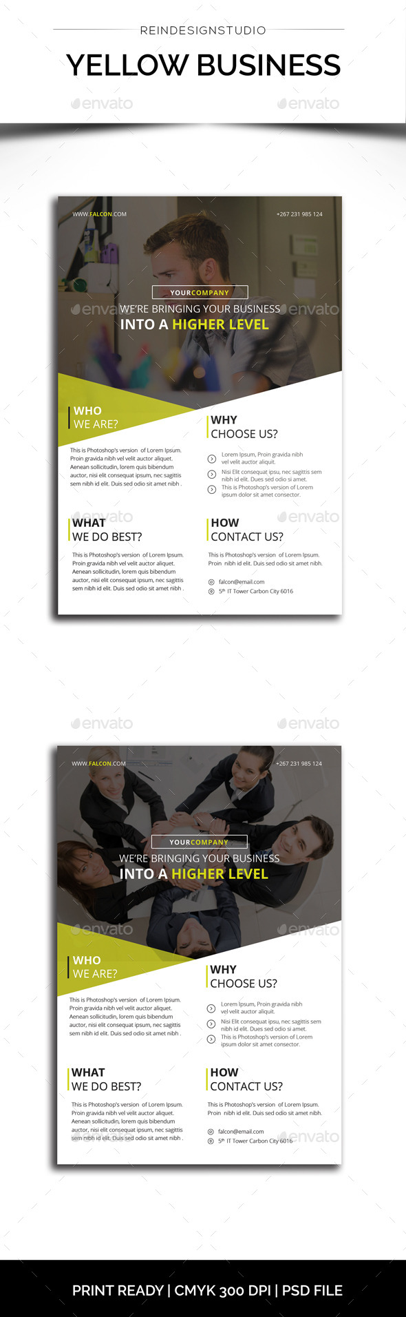 GraphicRiver Yellow Business Flyer 11783393
