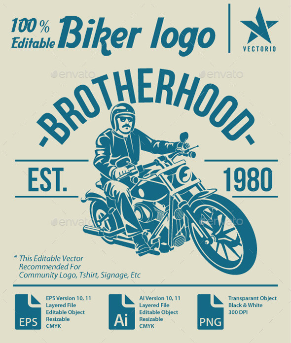 GraphicRiver biker community logo 11779981