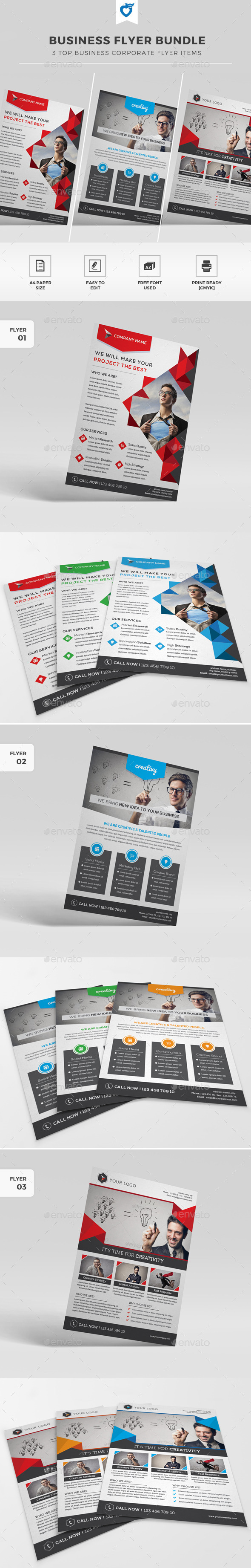 GraphicRiver Business Flyer Bundle 11783955