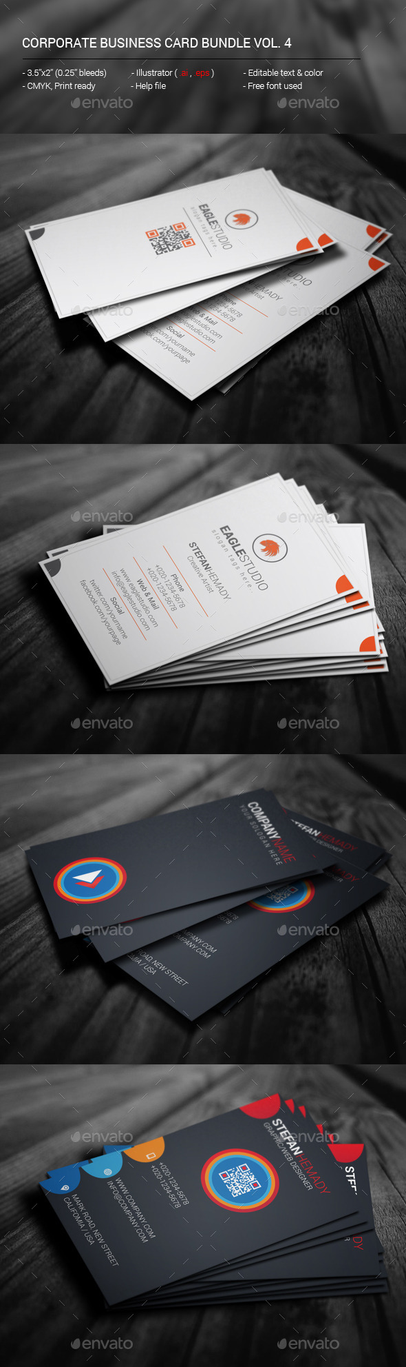 GraphicRiver Corporate Business Card Bundle Vol 4 11783968