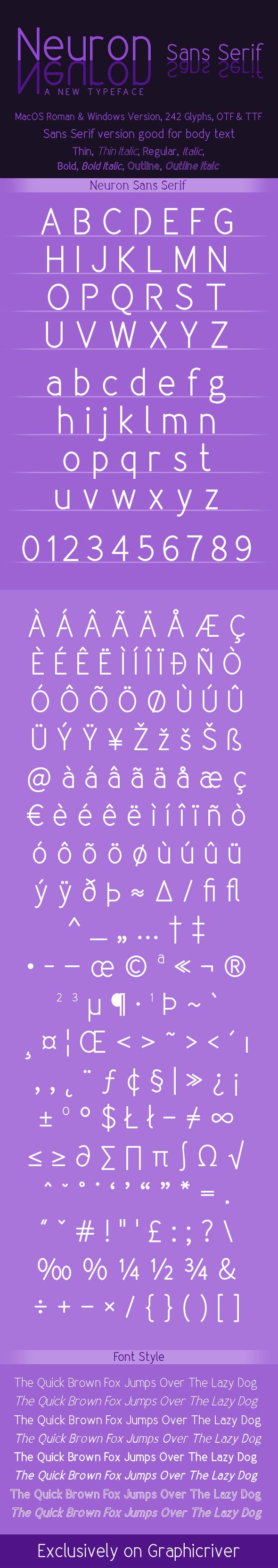 GraphicRiver Neuron Sans-Serif Family 11207044