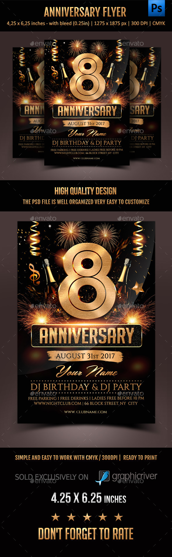 GraphicRiver Anniversary Flyer 11784085