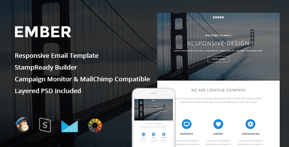 ThemeForest Ember Responsive Email & StampReady Builder 11686368