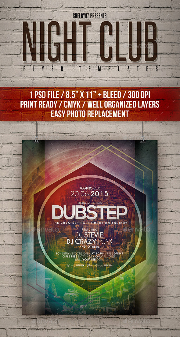 GraphicRiver Night Club Flyer Templates 11784115