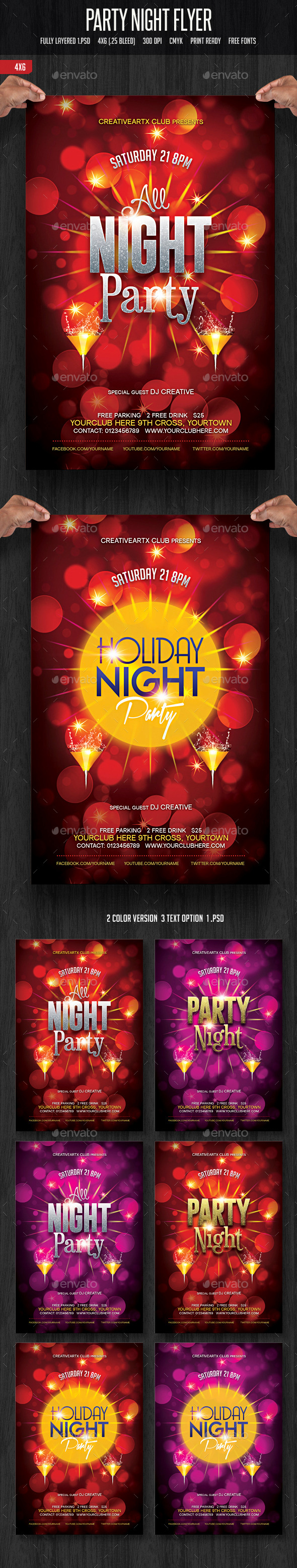 GraphicRiver Party Night Flyer 11784395
