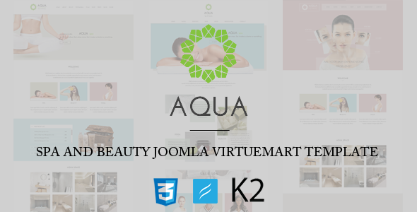 banner aqua.  large preview - Spa and Beauty Joomla VirtueMart Template
