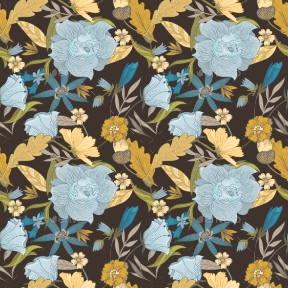 GraphicRiver Vintage Fall Vector Pattern 11785095
