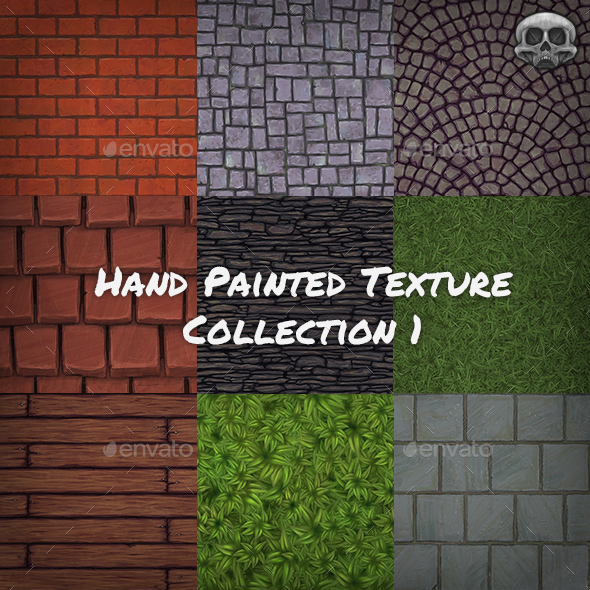 Hand Painted Texture Collection - 3DOcean Item for Sale