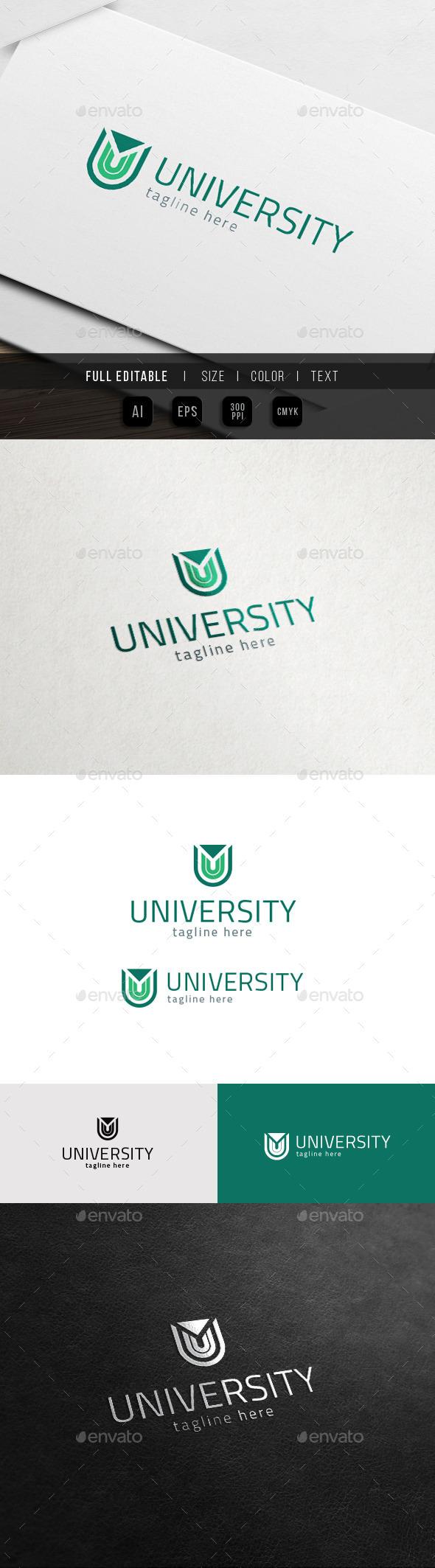 GraphicRiver U Logo University Universe 11785330