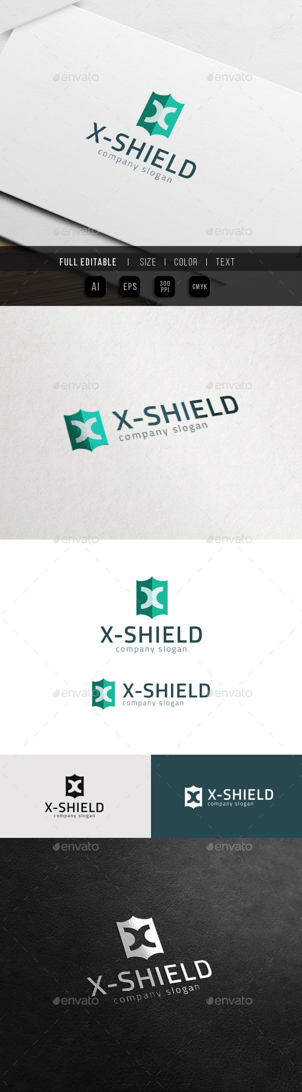 GraphicRiver X Shield Extreme X Logo 11785469