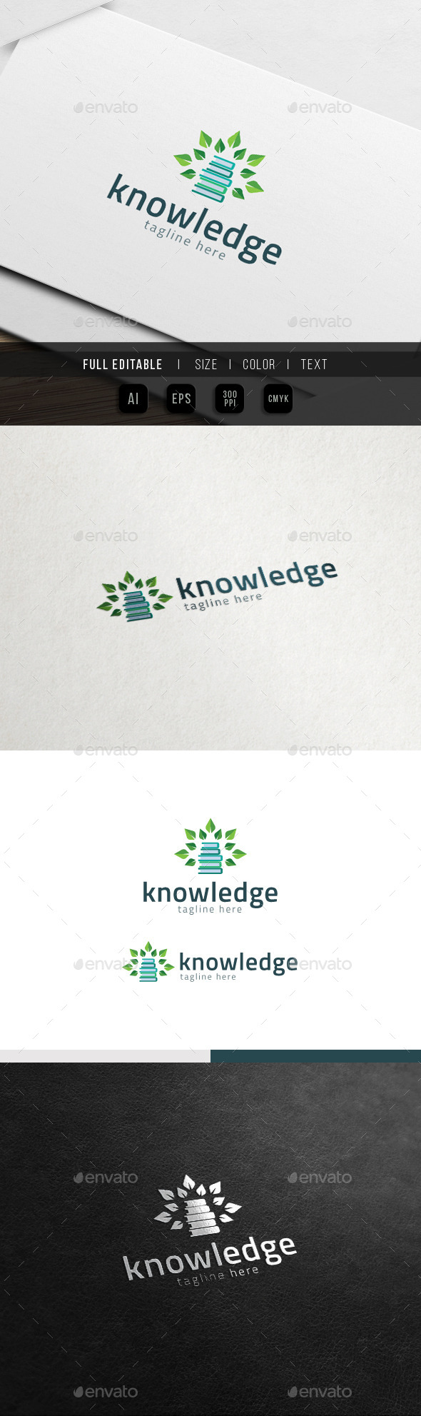 GraphicRiver Tree of Knowledge Eco Book Logo 11785544