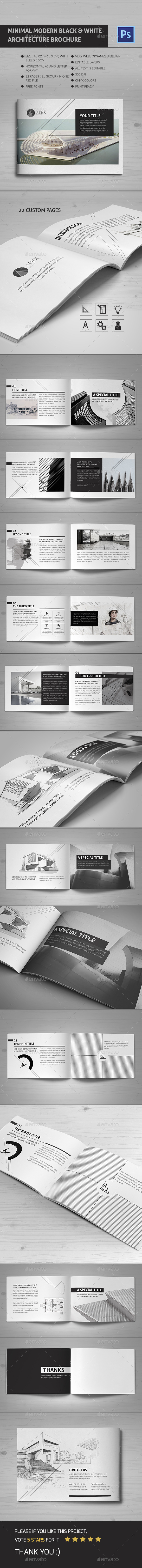 GraphicRiver Minimal Modern Black & White Architecture Brochure 11785566