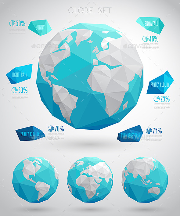 GraphicRiver Set of Vector Globes 11785628