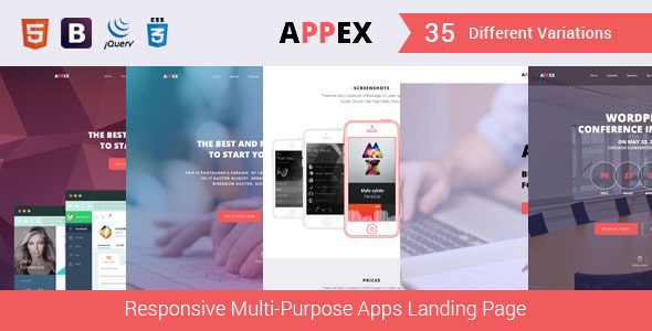 ThemeForest AppEx Responsive Multi-Purpose Apps Landing Page 11730162