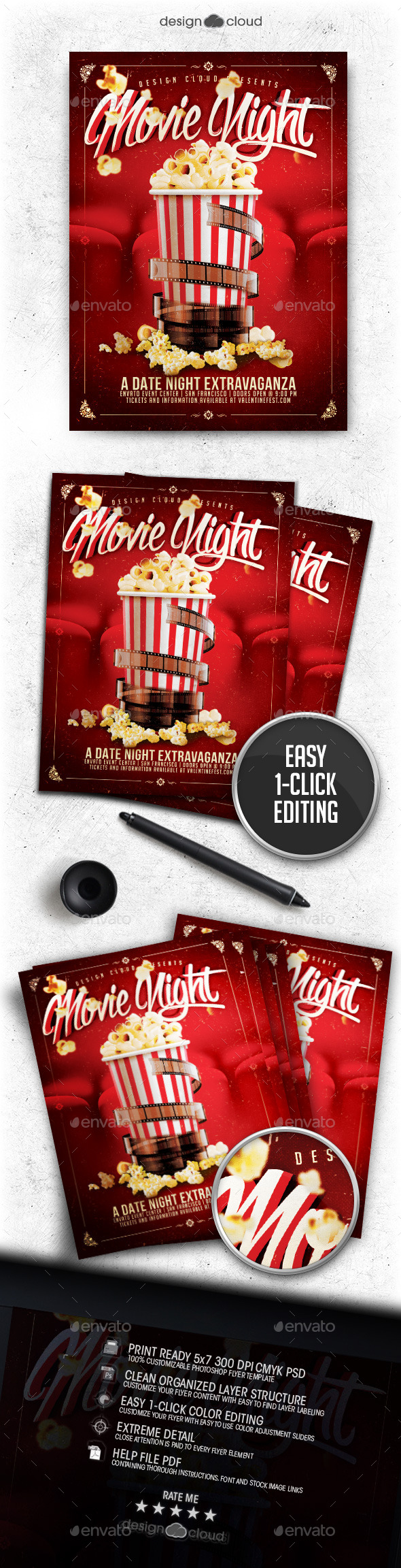 GraphicRiver Movie Dat Night Flyer Template 11785832
